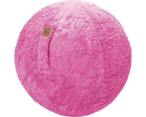 Sitting Ball Fluffy pink Ø 65 cm