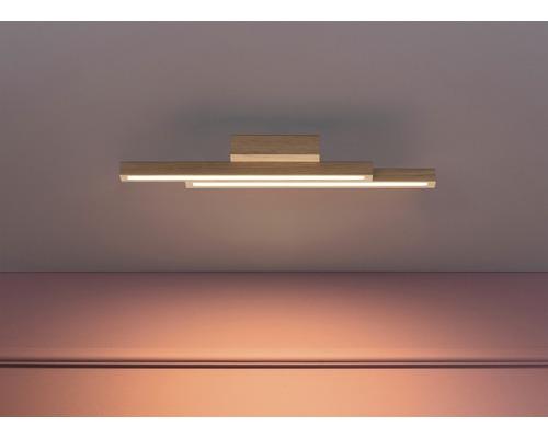 LED Deckenleuchte 12W 1120 lm 3000 K warmweiß Linus eiche/geölt L 545 mm