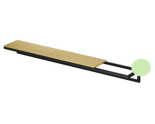 BETTE Handtuchhalter Lux Shape 100cm Mint Feinstruktur matt ohne Holzeinlage Q033-817