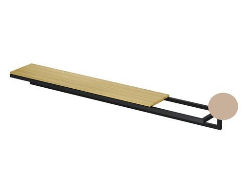 BETTE Handtuchhalter Lux Shape 40cm Rose Feinstruktur matt ohne Holzeinlage Q030-818