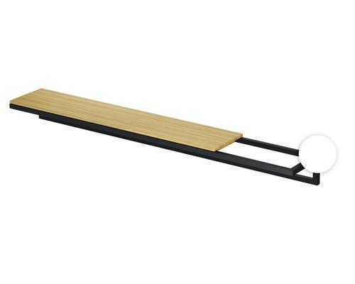 BETTE Handtuchhalter. Lux Shape 40cm weiß Feinstruktur matt ohne Holzeinlage Q030-807
