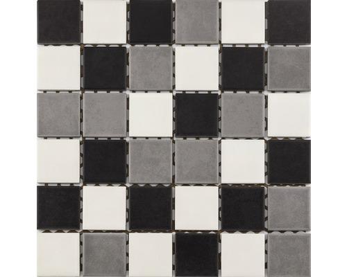 Keramikmosaik für die Dusche R10B weiß/grau/schwarz glasiert 30x30 cm