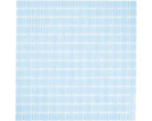 Glasmosaik GMA33 uni lichtblau 30,5x30,5 cm