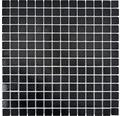 Glasmosaik GMA49 uni schwarz 30,5x30,5 cm