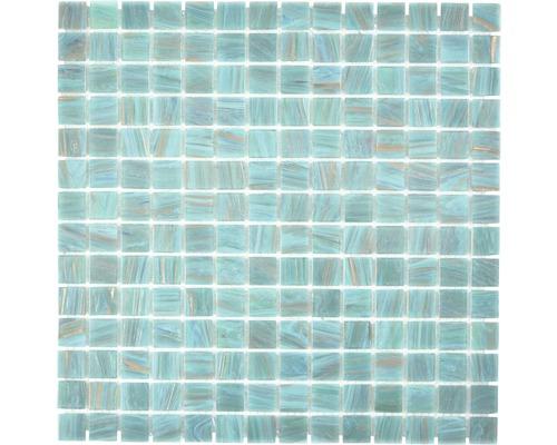 Glasmosaik GMGS454749 türkis 30,5x30,5 cm