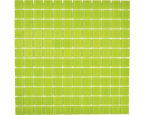 Glasmosaik CM4SE70 Crystal uni grün 30x30 cm