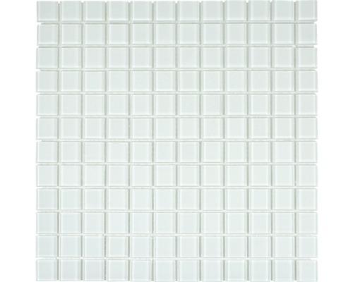 Glasmosaik CM4SE40 Crystal uni weiß 30x30 cm