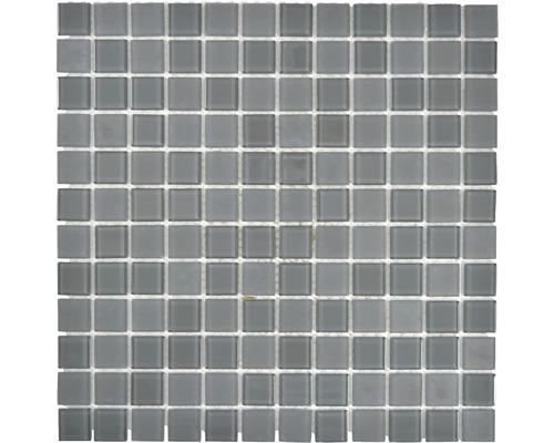 Glasmosaik CM4SE5M Crystal grau 30x30 cm