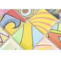 Keramikmosaik Quadrat mix art bunt 29,1x29,1 cm