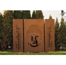 Sichtschutzwand Asia 112x180 cm 3-teiliges Set rost