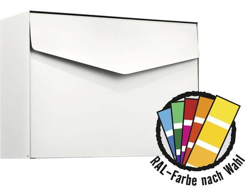 MEFA Briefkasten Stahl pulverbeschichtet BxHxT 430x312x178 mm Letter 111M in RAL Sonderfarbe nach Wunsch mit Klappe