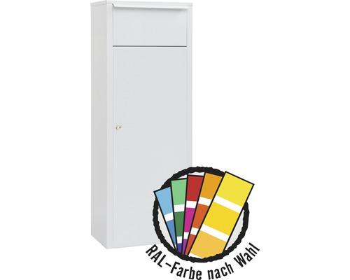 MEFA Briefkasten Stahl pulverbeschichtet BxHxT 385/1043/230 mm Hazel 466M in RAL Sonderfarbe nach Wunsch