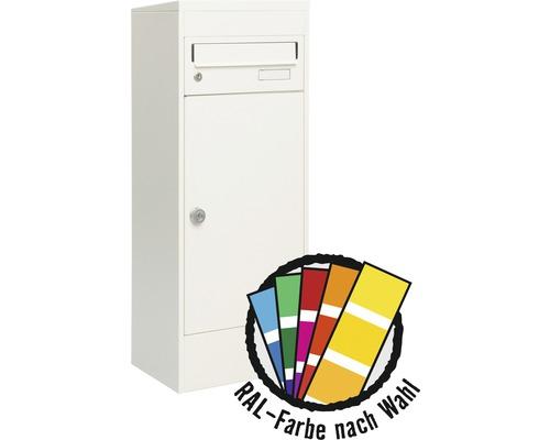 MEFA Briefkasten Stahl pulverbeschichtet BxHxT 511/1091/388 mm Balsa 4831M in RAL Sonderfarbe nach Wunsch 2-fach mit Namensschild