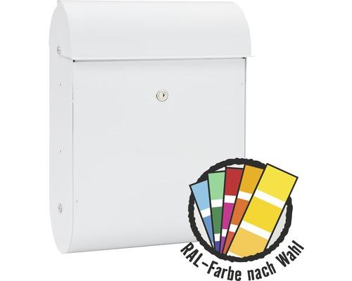 MEFA Briefkasten Stahl pulverbeschichtet BxHxT 365/510/180 mm Quartz 825 in RAL Sonderfarbe nach Wunsch Entnahme vorne