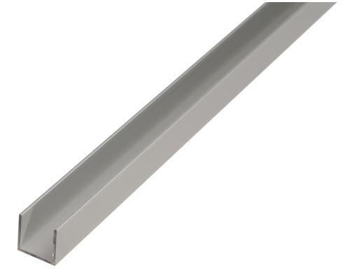 U-Profil Aluminium silber eloxiert 20x18x20x1,3 mm, 2 m