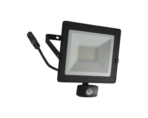 LED Sensor Strahler IP54 50W 4000 lm 4000 K neutralweiß H 250 mm schwarz