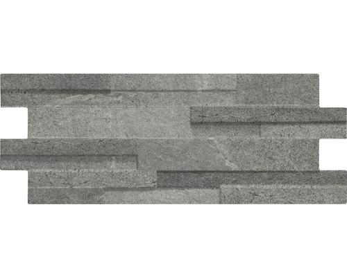 Feinsteinzeug Wandfliese Muretto Luna/Eco Anthrazit 16x40 cm