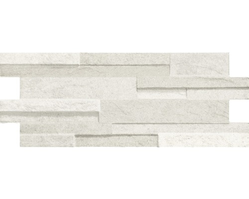 Feinsteinzeug Wandfliese Muretto Luna/Eco Bianco 16x40 cm