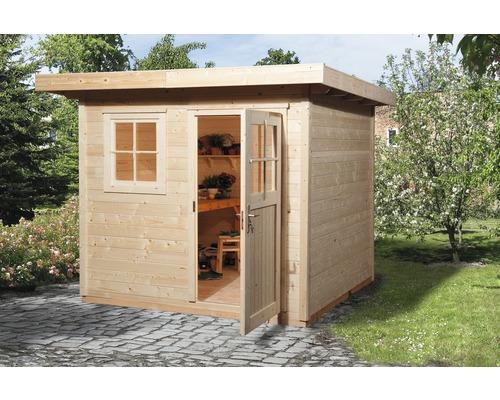 Gartenhaus weka 170 Gr.2 mit Fußboden 235 x 240 cm natur