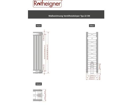 Ventilheizkörper Rotheigner 8-fach Typ DK 600x2300 mm