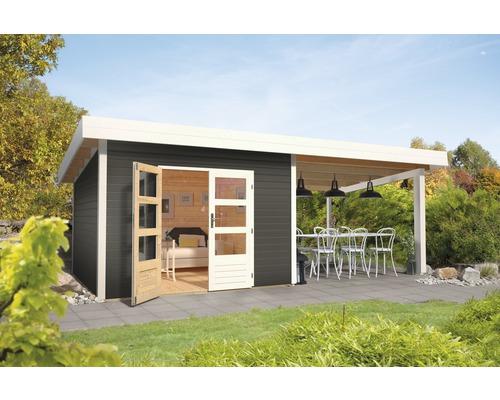 Gartenhaus Karibu Speyer 3 mit Schleppdach 3 m 665 x 309 cm terragrau