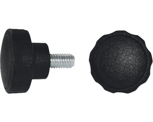 Sterngriffschraube Ø 40 mm M8x23 schwarz, 10 Stück