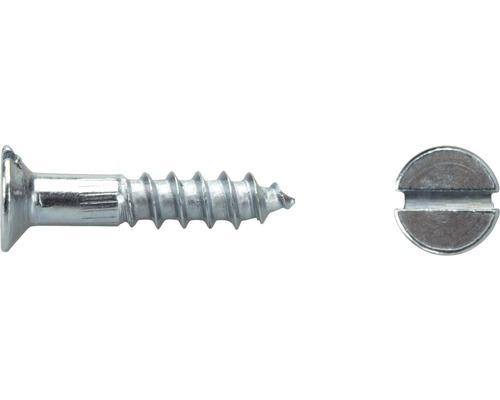 Holzschraube Senkkopf m. Schlitz DIN 97 2,5x10 mm galv. verzinkt, 100 Stück