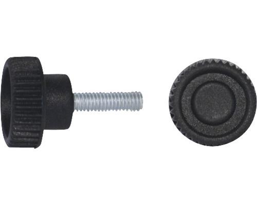 Rändelgriffschraube Ø 35 mm M8x46,5 schwarz, 20 Stück