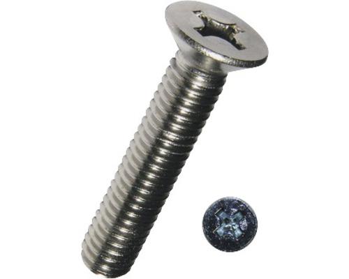 Senkkopfschraube m. Kreuzschlitz DIN 965 3x10 mm Edelstahl A2, 100 Stück