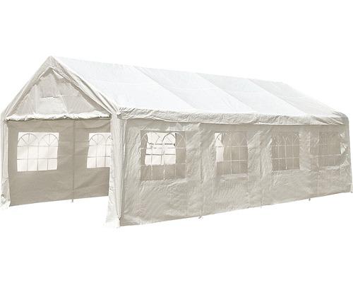 Partyzelt 3,95 x 7,95 m Polyethylen weiß