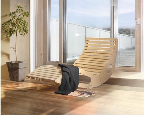 Sauna Wellnessliege Weka 165x64x95 cm aus Holz ergonomisch inkl. Saunatuch