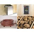Saunaofen-Set Weka 4,5 kW mit digitaler Steuerung