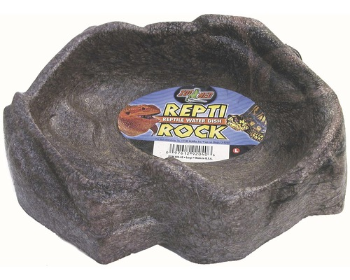Futterstelle ZOO MED Repti Rock Water Dish 22x15x6 cm zufällige Farbauswahl