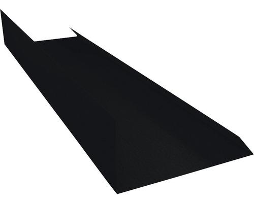 PRECIT Kantenwinkel Schürze Big Stone jet black RAL 9005 1000 x 100 mm