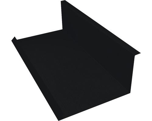 PRECIT Wandanschlußblech für Metallziegel Big Stone jet black RAL 9005 1000 x 100 x 115 m
