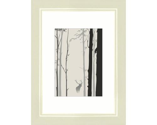 Bilderrahmen Holz Modern creme 10,5x15 cm