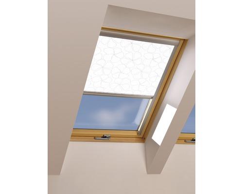 Tageslichtrollo FAKRO ARP weiß gemustert manuell 78x98 cm (05)