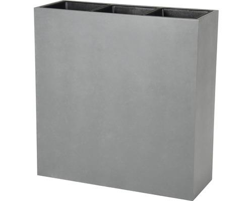 Raumteiler Lafiora Kunststein 94,5x34,5x98 cm hellgrau inkl. Pflanzeinsatz