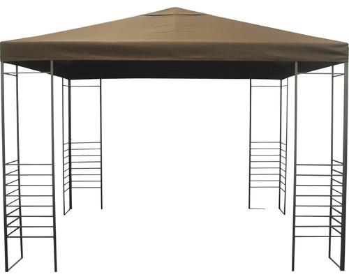 Pavillon Design, 3x3x2,55 m Polyester rotbraun