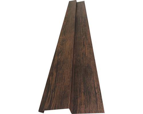 PRECIT Aussenecke für Wandpaneel nussbaum 1 m