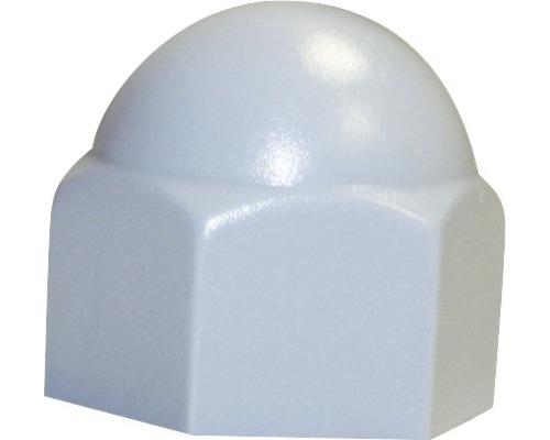 Sechskantschutzkappe eckig 12 mm weiß, 50 Stück