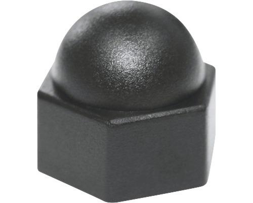 Sechskantschutzkappe eckig 12 mm schwarz, 50 Stück