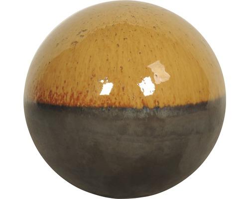 Dekokugel Lafiora Terrakotta Ø 23 cm gelb-anthrazit