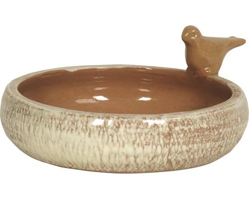 Vogeltränke Lafiora Keramik Ø 28 cm braun