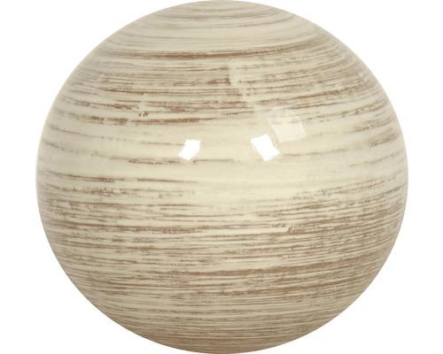 Dekokugel Lafiora Keramik Ø 27 cm weiß