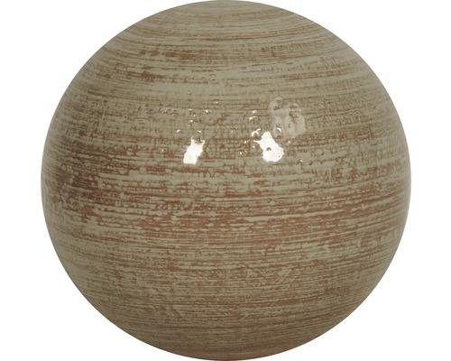 Dekokugel Lafiora Keramik Ø 27 cm grau
