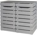 Mülltonnenbox Konsta Style Typ 545 doppelt 140x80x120 cm grau