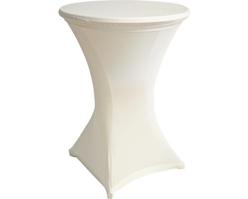 Stretch Stehtischhusse weiß Ø 70 cm