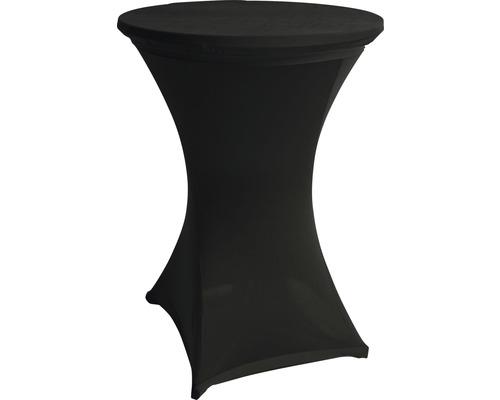 Stretch Stehtischhusse schwarz Ø 70 cm