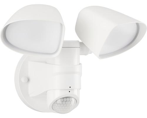 LED Sensor Außenstrahler IP44 2x10W 1000 lm 4000 K neutralweiß H 160 mm weiß